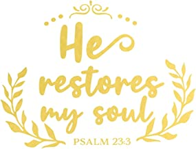 He Restores My Soul Psalm 23 3: A Matte Soft Cover Daily Prayer Journal Notebook to Write In. Blank Lined Pages for Thoughts, Prayers, Devotions and Thanks, for Women or Men