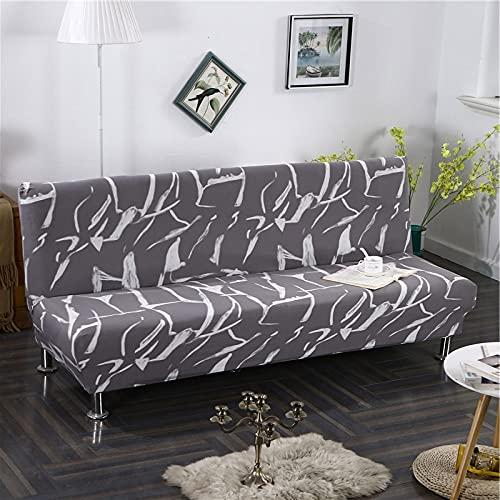 WXQY Estiramiento geométrico sin reposabrazos Funda de sofá con Todo Incluido Plegable Funda de protección de sofá Antideslizante Funda de sofá A14 4 plazas