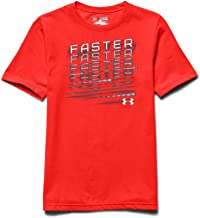 Under Armour Big Boys' NFL Combine Authentic Faster T-Shirt Youth X-Small BOLT ORANGE