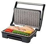 Salter EK2009 Marble Collection Health Grill, Panini Grill and Sandwich Press, Stainless Steel 750W