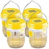Exbuster Fliegenfalle: 4er-Set giftfreie Solar-LED-Insektenfalle z. Aufhängen oder Hinstellen...