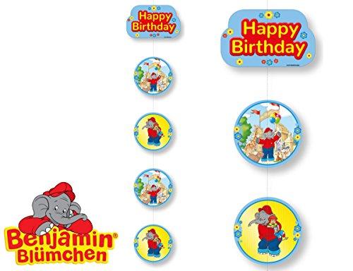 Deckendeko * BENJAMIN BLÜMCHEN * als Deko für Kinderparty und Kindergeburtstag von DH-Konzept // Töröööö // Elefant Kinder Party Set