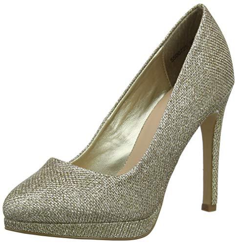New Look Reign Zapatos de tacón con punta cerrada mujer, Oro (Gold 93), 37 EU (4 UK)