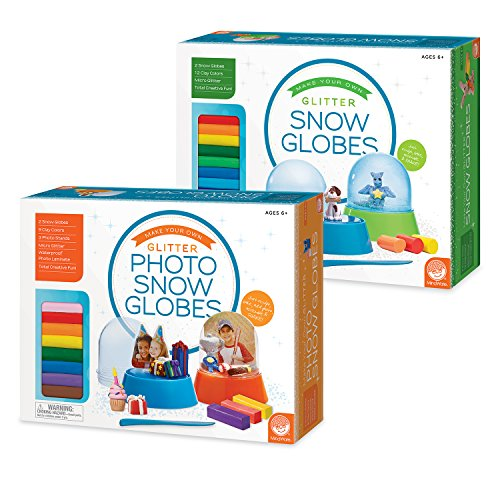 MindWare Make Your Own Glitter Snow Globes and Photo Snow Globes: Set of 2