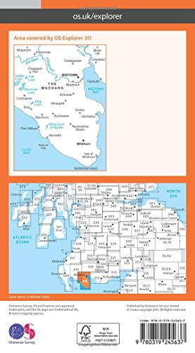 OS Explorer Map (311) Wigtown, Whithorn and the Machars (OS Explorer Paper Map)