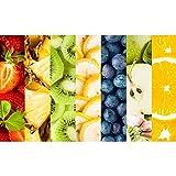 ArtzFolio Collage Photo of Sliced Tropical Fruits Peel & Stick Vinyl Wall Sticker