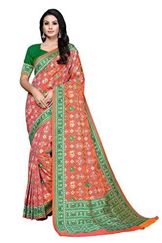 Soru Fashion Women's Pure Banarasi Patola Silk Saree with