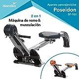 *skandika *Regatta *Multi *Gym *Poseidon - màquina Rem - *Plegable - Sistema de Fre silenciós - Pes 17 kg (Gris)