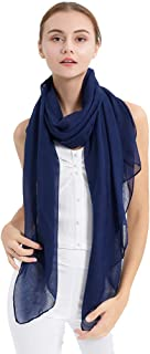 KAVINGKALY Coton foulard couleur unie grand châle pure des femmes s'enroule pour la soirée