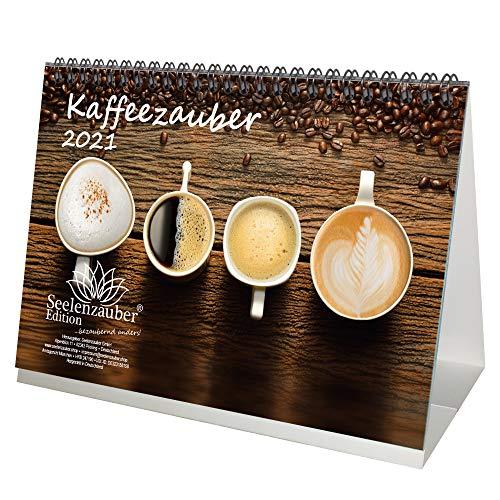 Kaffeezauber DIN A5 Tischkalender für 2021 Kaffee - Seelenzauber