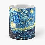 N\A Tardis Night Starry Dr Who Doctor - La Migliore Tazza in Ceramica da 11 Once - Tazza Classica per caffè, tè, Cioccolato o Latte