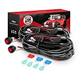 DT MOTO Nilight 2PCS 16AWG LED Light Bar Wiring Harness Kit 12V On Off Switch Power Relay Blade Fuse for Off Road Lights LED Work Light,2 Years Warranty