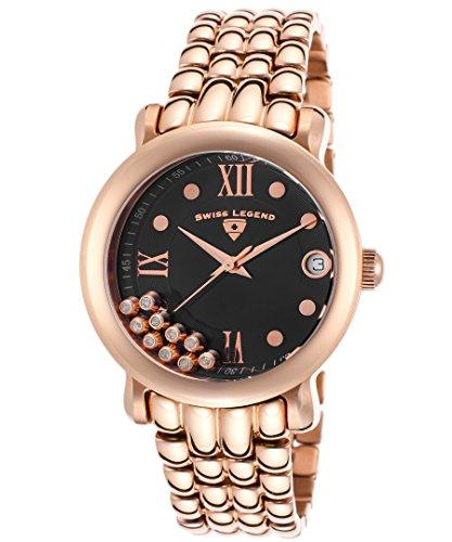 Swiss Legend Damen Uhr Analog Quarz mit Edelstahl Armband 22388-RG-11