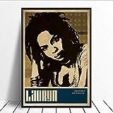 yhnjikl Lauryn Hill Musik Sänger Poster Hip Hop Rap Musik