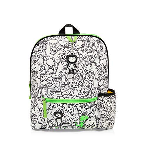 Zip & Zoe Black White Dinosaur Toddler Kids Children Backpack Rucksack Girl Boy