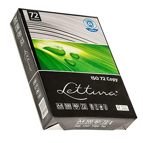 Hainsberg 88291603 Recycling-Druckerpapier Lettura 72: 80 g/m², A4, 500 Blatt, ISO-Weiße: 72 (recycling-grau)