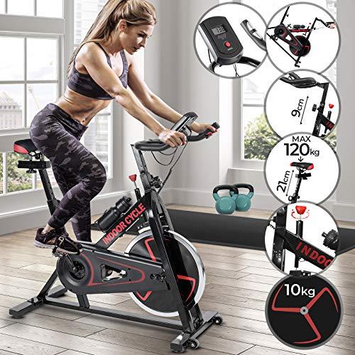Heimtrainer Fahrrad - mit Computer Display, Ergometer, 105x47x100 cm, max 120 kg, Sitz und Griff verstellbar - Fahrradtrainer, Fitnessbike, Hometrainer, Heimtrainer, Exercise Bike, Fitnessfahrrad