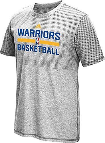 adidas Golden State Warriors Uomo Grigio Aeroknit Climacool t-Shirt, Donna, Grey