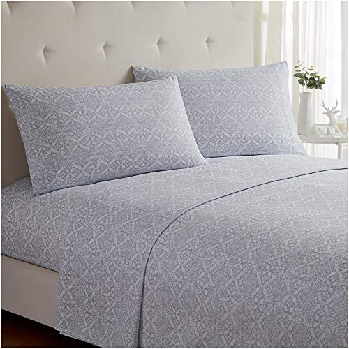 Mellanni Bed Sheet Set - Brushed Microfiber 1800 Bedding - Wrinkle, Fade, Stain Resistant - 4 Piece (Full, Laced Sky Blue)