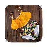 Traje de baño para mujer 2020 Nuevo traje de baño Bikini para mujer Traje de baño de cintura alta Halter Conjunto de bikini sexy Trajes de baño retro Traje de baño de talla grande Xxl-SJ17090Y2-XL