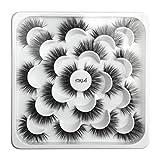 磁気つけまつげ 3Dまつげ セット 自然 長い 柔らかい 快適 カールしたまつげ ナチュラル まつげカーラー 濃い 初心者 再利用可能 化粧品 5Dミンクつけまつげと自然なまつげが付いている10組の蓮の花