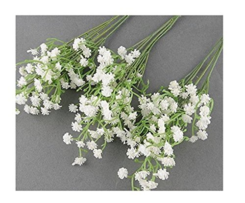 10 pc al por mayor Artificial flores simulación real natural Babysbreath artificiales Gypsophila Paniculata flores para mesa decoración Boda Ramos