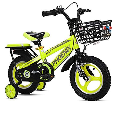SHARESUN Kids Bike voor Meisjes & Jongens, Kinderfiets met stoelTraining Wielen & Hand Remmen, 3-6-10Jaar Kinderen Fietsen, 12