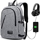 Anti-Theft Backpack, GIM Theft Business Laptop Backpack with USB Charging Port and Earphone Port...