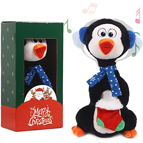 ARELUX Christmas Animated Toy 14' , Singing Dancing Penguin Electric Toy ,Xmas Musical Gift Decorations