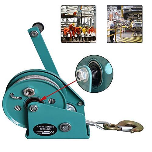 LXYYSG Cabrestante Manual con Rodamiento, Cabestrante Manual Gear con Cable y Gancho,...