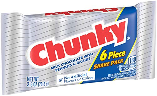 Chunky Share Pack, Bulk Individually Wrapped Milk Chocolate Ferrero Candy Bars, 2.5 Ounce (Pack of 24)