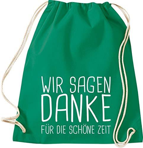 Shirtstown Sac de gym, nous vous remercions pour la belle période scolaire Kita Hort Erzieher Lehrer Lehrerin Spruch, Sac de sport, kelly, 37 cm x 46 cm