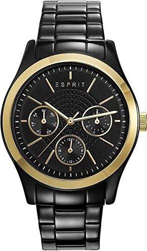 Esprit horloge met Japans uurwerk Woman goudkleurig/zwart 36 mm