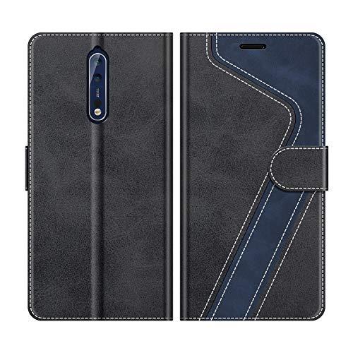 MOBESV Handyhülle für Nokia 8 Hülle Leder, Nokia 8 Klapphülle Handytasche Hülle für Nokia 8 Handy Hüllen, Schwarz