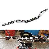 Manillar de la Motocicleta Fat Bar Wide Dirt Pit Bike ATV Quad Motocross Enduro Black 1 1/8'