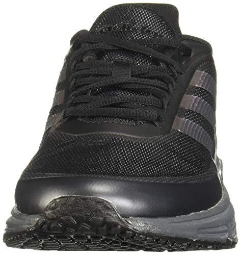 Adidas QUADCUBE, Zapatillas Running Hombre, Negro (Core Black/Core Black/Signal Coral), 42 EU