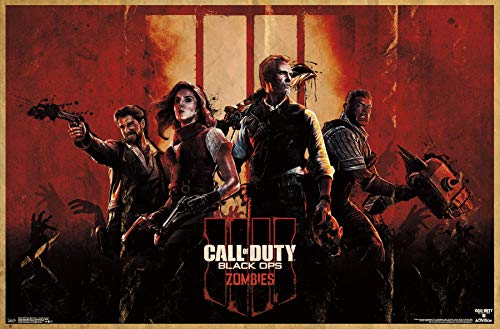 Trends International Call of Duty: Black Ops 4 - Zombie Key Art Wall Poster, 22.375' x 34', Poster & Mount Bundle