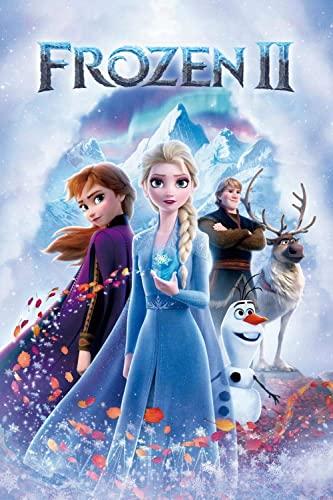 Cxtijkerw Puzzles para Adultos Puzzles de 1000 Piezas - Carteles de películas Frozen II - DIY Puzzles para Adultos y niños Juegos educativos para niños Regalos 38x26cm