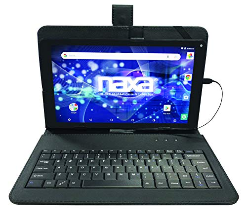 """Naxa Electronics NID-1020 10.1"""""""" Core Tablet with Android OS 8.1, Black"""