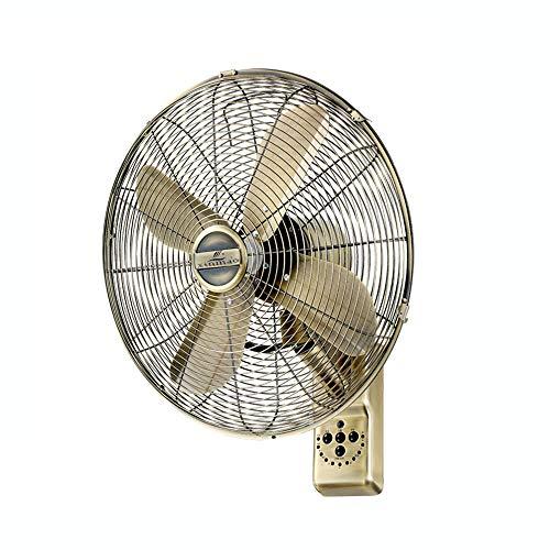 Wall Fan ALY Ventilador De Pared De Metal Vintage, Oscilante, 50w, Mando A Distancia Y Temporizador, Silencioso, 16 Pulgadas