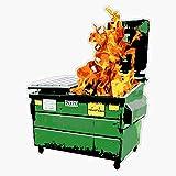 TCT Trading Dumpster Fire Funny Sarcastic Fail Pop Art Sticker Vinyl Stickers Waterproof Decal Car, Laptop, Bumper Stickers 5'