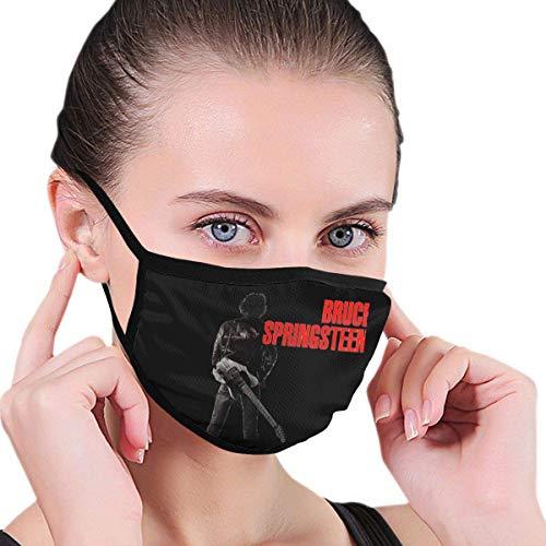 Jimoon Bruce Springsteen protezione per il viso, square scarf, per esterni, antivento, antipolvere e senza cuciture, ripetibile, lavabile, regolabile