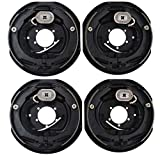 Auto Express 4pc Electric Trailer Brake 10' x 2.25' Assembly Right & Left Side 3500 lb axles