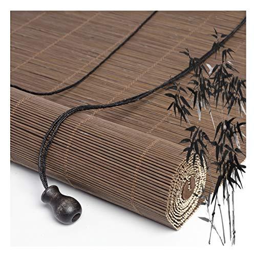Persianas enrollables de bambú, con cordón de privacidad para ventanas, filtrado de luz y ventilación, tiene muchos usos, tamaño personalizado PENGFEI (color: A, tamaño: 110 x 225 cm)