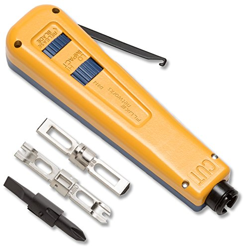 Fluke Networks 10051501 D914 Impact Punch Down Tool with...