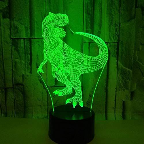 Laizs Led 3D Nachtlicht Optische Täuschungslampe Für Kindergeschenke 7 Farben Abs-Grundstimmung Beleuchtet Dekorationsnotenschalterdinosaurier