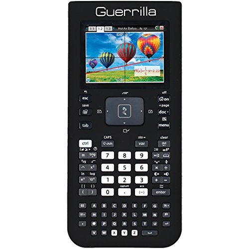 Guerrilla Silicone Case for Texas Instruments TI Nspire CX/CX CAS Graphing Calculator, Black Photo #3