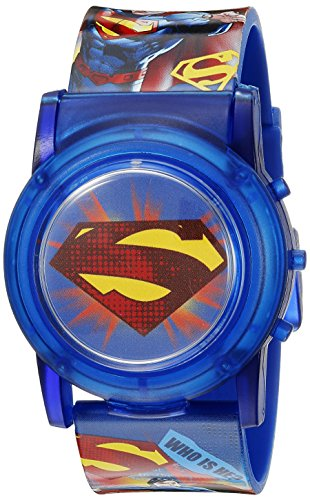 DC Comics Superman Kids' SUP6000SR Digital Display Analog Quartz Blue Watch
