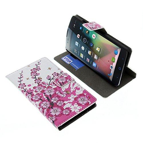 foto-kontor Tasche für ZTE Blade L3 Plus Book Style Blüten Schutz Hülle Buch