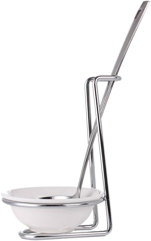 Cuisinox Upright Ceramic Spoon Rest, Silver White